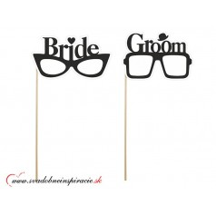 """Kartičky """"BRIDE & GROOM"""" (2 ks)"""