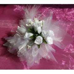 Kvetinový náramok N001 - BIELA
