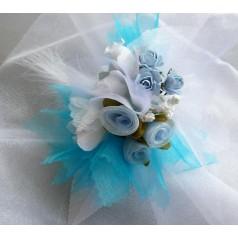 Kvetinový náramok N003 - TYRKYSOV