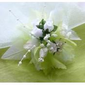 Kvetinový náramok N005 - ZELENÁ