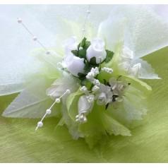 Kvetinový náramok N005 - ZELEN