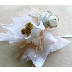 Kvetinový náramok N009 - ZLAT
