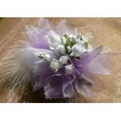 Kvetinový náramok N010 - LEVANDUĽOVÁ