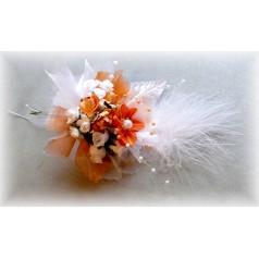 Kvetinový náramok N015 - ORANŽOV
