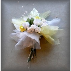 Kvetinový náramok N018 - ŽLT