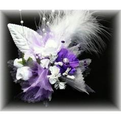 Kvetinový náramok N019 - FIALOV