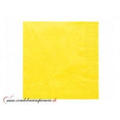 Servítky 3-vrstvové - žlté (20 ks)