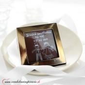 Svadobná čokoládka v kartóniku (5x5 cm)