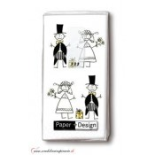 Svadobné papierové vreckovky JUST MARRIED