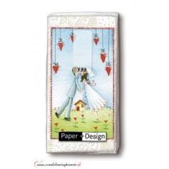 Svadobné papierové vreckovky I LOVE YOU