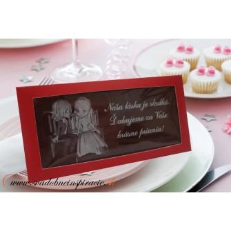 Svadobné čokoládky v kartóniku (10x5 cm)