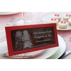 Svadobná čokoládka v kartóniku (10x5 cm)