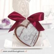 """Svadobná čokoládka """"SRDIEČKO"""" - PERSONALIZOVANÁ"""