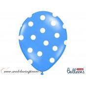 """Balóny """"POLKA DOTS"""" - Modré (6 ks)"""