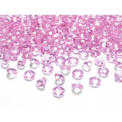 Dekoračné kamienky - DIAMANTÍKY malé (ružové), 100 ks