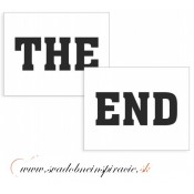 "Nálepky na topánky ""THE END"" (2 ks)"