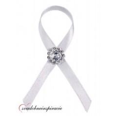"""Svadobné pierka """"Diamantík"""" - biele"""