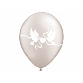 """Balóny """"HOLÚBKY"""" - Priesvitné (10 ks)"""