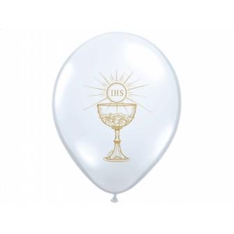 Balóny SV.PRIJÍMANIE - Biele (10 ks)