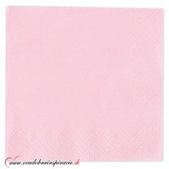 Servítky 3-vrstvové - ružové (20 ks)