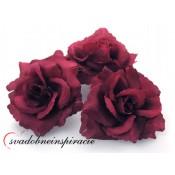 Prilepovacie ružičky - BORDOVÉ (24 ks)