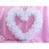 Srdce z ruží - prázdne /BIELE/