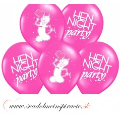 "Balóny ""HEN NIGHT PARTY"" - Čierna (10 ks)"
