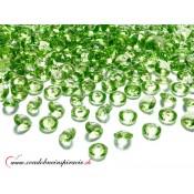Dekoračné kamienky - DIAMANTÍKY malé (zelené), 100 ks
