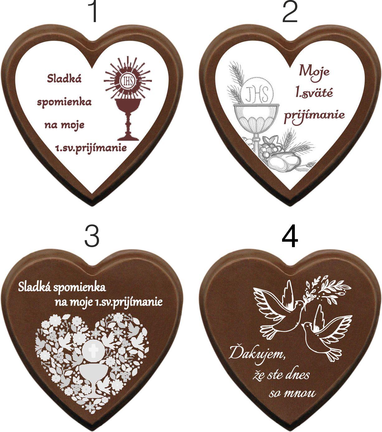 Vzory čokoládiek na 1.sv.prijímanie - Srdiečko