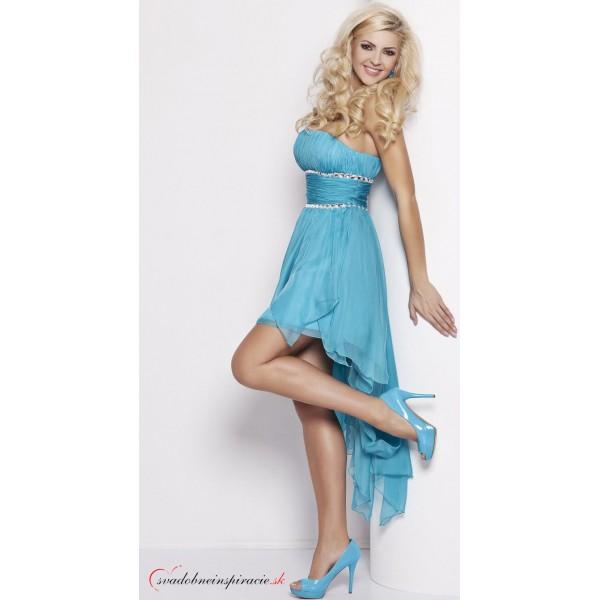 355ea4691977 Spoločenské šaty CARMEN  Tyrkysové