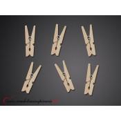 Dekoračné drevené štipce (20 ks)