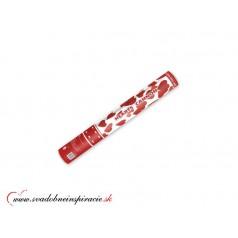 Vystreľovacie confetti - Červené srdiečka (40 cm)