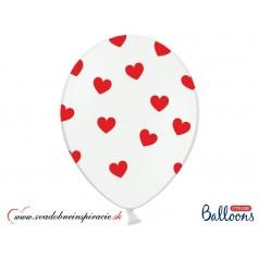 """Balóny """"SRDIEČKA"""" - Biele (10 ks)"""