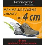 Gélové vložky do topánok na zvýšenie vzrastu (4 cm)