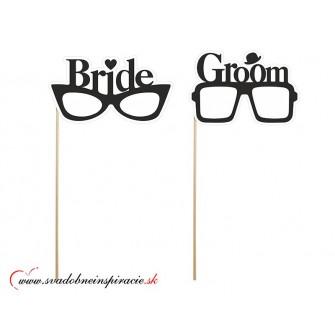 """Kartičky na fotenie """"BRIDE & GROOM"""" (2 ks)"""