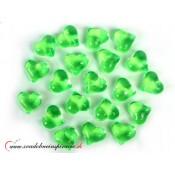 Dekoračné kamienky - SRDIEČKA (zelené), 30 ks