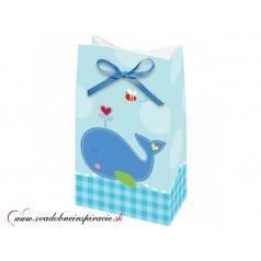 Darčekové tašky MODRÉ (12 ks)