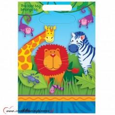 Darčekové tašky JUNGLE ANIMALS (8 ks)