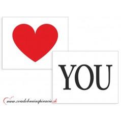 "Nálepky na topánky ""LOVE YOU"" (2 ks)"