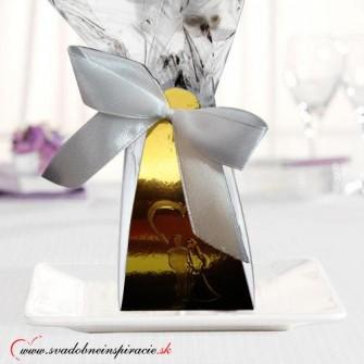 Svadobné čokoládky (5 ks) v škatuľke