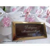 Svadobné čokoládky v škatuľke - PERSONALIZOVANÉ (10x5 cm)