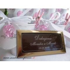 Svadobná čokoládka v kartóniku - PERSONALIZOVANÁ (10x5 cm)