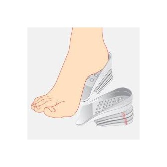 Gélové vložky do topánok na zvýšenie vzrastu (2,5 cm)