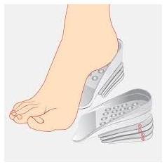 Gélové vložky do topánok na zvýšenie vzrastu