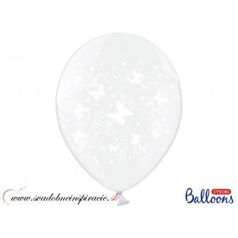 """Balóny """"MOTÝLIKY"""" - Priesvitné (6 ks)"""