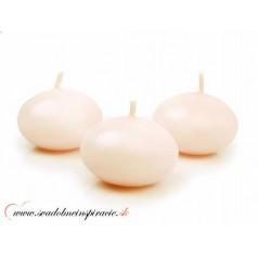 Plávajúce sviečky - SMOTANOVÉ (50 ks)