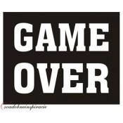 "Nálepky na topánky ""GAME OVER"" (2 ks)"