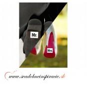 """Nálepky na topánky """"MR.&MRS."""" (2 ks)"""