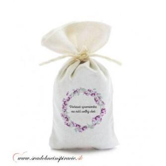 Levanduľové vrecúška pre svadobných hostí, VZOR 03 (50 ks)