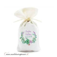 Levanduľové vrecúška pre svadobných hostí, VZOR 06 (10 ks)